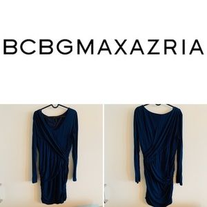 BCBGMaxAzria Draped Blue Dress